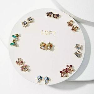 NWT LOFT Mini Stud Earring Set